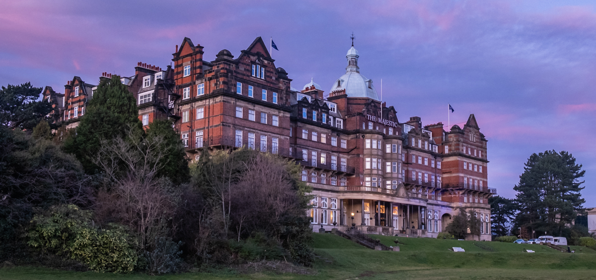 Winter Harrogate buildings 153 Majestic sunset