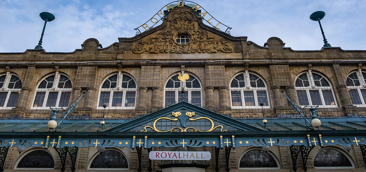 Winter Harrogate buildings 27 Royal Hall